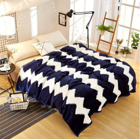 High Density Super Soft Flannel Leisure Blanket Can be Bedsheets - BLUE STRIPE 200CM X 230CM