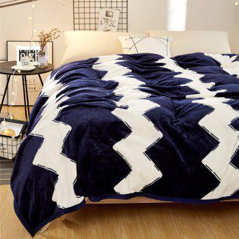 High Density Super Soft Flannel Leisure Blanket Can be Bedsheets - BLUE STRIPE 180CM X 200CM