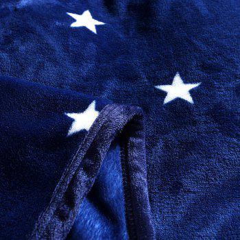 High Density Super Soft Flannel Leisure Blanket Can be Bedsheets - BLUE STARS BLUE STARS