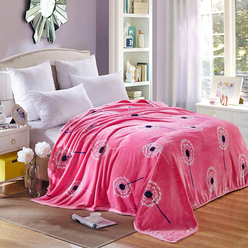 High Density Super Soft Flannel Leisure Blanket Can be Bedsheets - PINK 150CM X 200CM