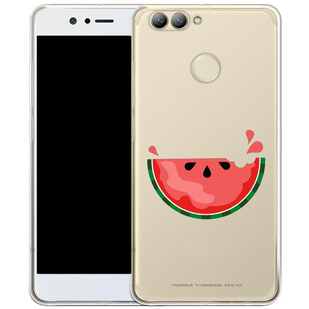 Phone Case for HuaWei Nova 2 Plus TPU Transparent Soft Shell Watermelon Pattern - TRANSPARENT