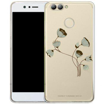 Phone Case for HuaWei Nova 2 Plus TPU Transparent Soft Shell Painted Lotus Pattern - TRANSPARENT TRANSPARENT