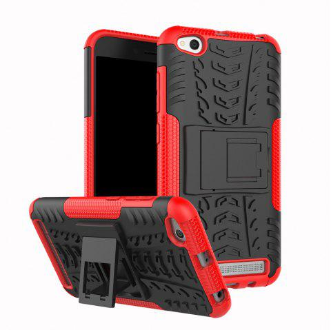 Cover Case for Redmi 5A Shock Proof And Antiskid TPU + PC Material Cool Tattoos Stents - RED