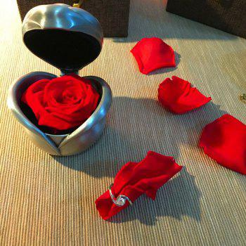 Valentine's Day Handmade Preserved Flower Rose Immortal Flowers Gifts - RED