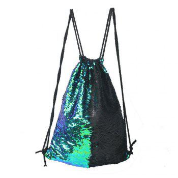 High Quality Drawstring Sports Bag Climbing Hiking Shopping Backpack Trendy - GREEN GREEN