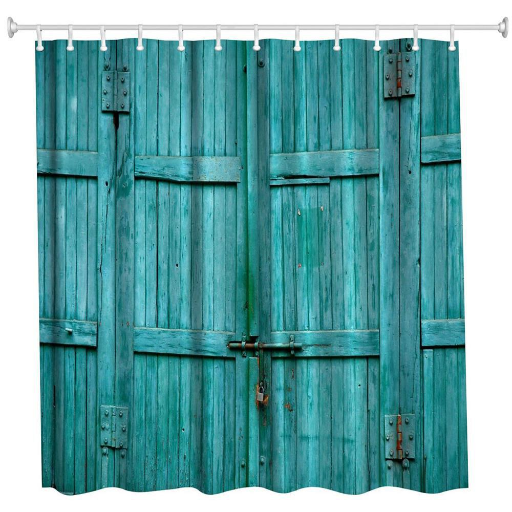 The Blue Wooden Door Polyester Shower Curtain Bathroom Curtain High Definition 3D Printing Water-Proof the crow in haunted house polyester shower curtain bathroom curtain high definition 3d printing water proof