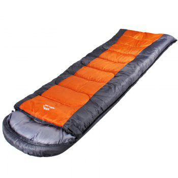 FERISH Outdoor Autumn and Winter Envelope Thermal Insulation Sleeping Bag Adult can be Stitched Sleeping Bag - ORANGE