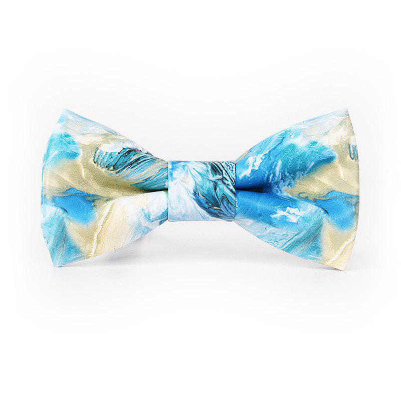 PU Leather Bow Tie for Men - BLUE