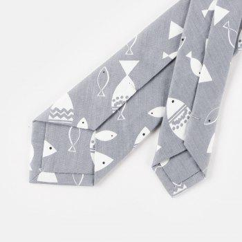 Narrow Version of Men'S Casual Cotton Tie 6CM - GRAY