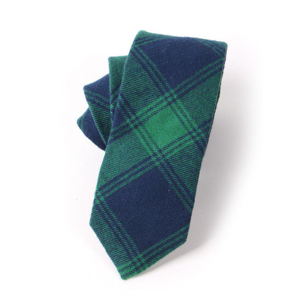 Casual Men'S Lattice Jacquard Tie - GREEN
