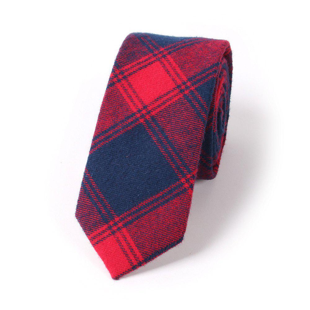 Casual Men'S Lattice Jacquard Tie - RED