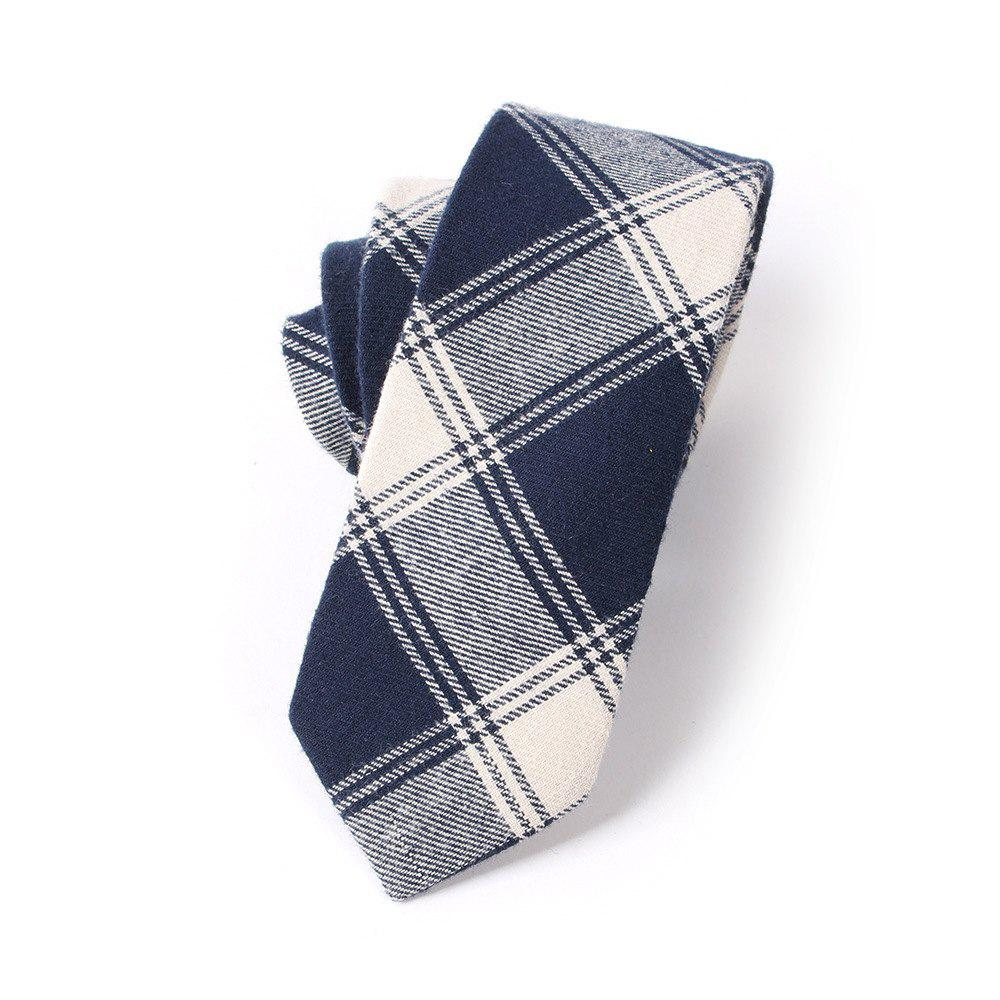Casual Men'S Lattice Jacquard Tie - BLUE