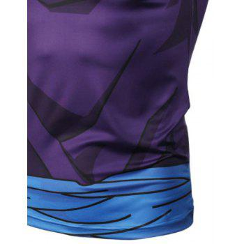Fashion and Leisure Personality Creative Collision Color 3D Digital Print Vest Hot Style - BLUE M