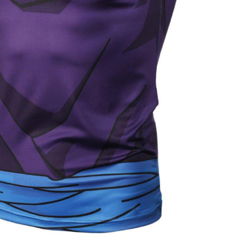 Fashion and Leisure Personality Creative Collision Color 3D Digital Print Vest Hot Style - BLUE L