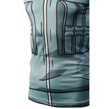 Fashion Casual Creative 3D Digital Print Vest Hot Style - BLUE GRAY BLUE GRAY