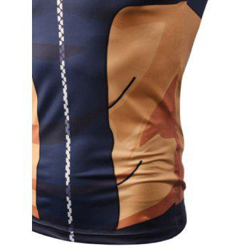 Street Fashion Casual Creative 3D Digital Printed Vest Hot Style - BLUE XL