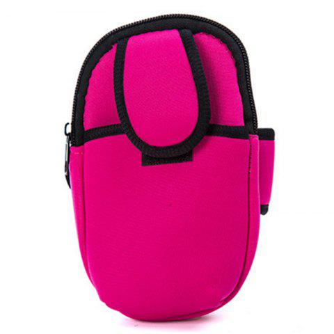 Outdoor Sports Arm Package Running Package Men and Women Phone Arm Package Wrist Package Portable Cell Phone Package - PINK