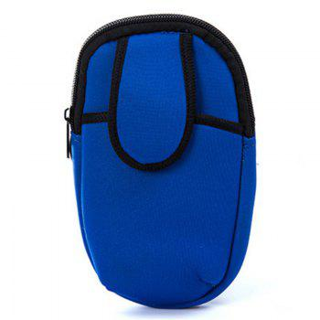 Outdoor Sports Arm Package Running Package Men and Women Phone Arm Package Wrist Package Portable Cell Phone Package -  BLUE