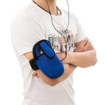 Outdoor Sports Arm Package Running Package Men and Women Phone Arm Package Wrist Package Portable Cell Phone Package - BLUE BLUE