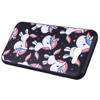 Case For Samsung Galaxy J3 2017 J320 U.S. Version of The Rainbow Unicorn TPU Phone Case - COLOUR