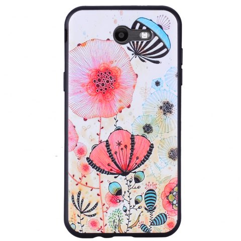 Case For Samsung Galaxy J3 2017 J320 U.S. of The Pink Floral TPU Phone Case - PINK