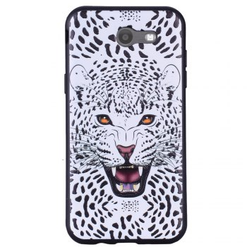 Case For Samsung Galaxy J3 2017 J320 U.S. Edition Snow Leopard TPU Phone Case - WHITE WHITE