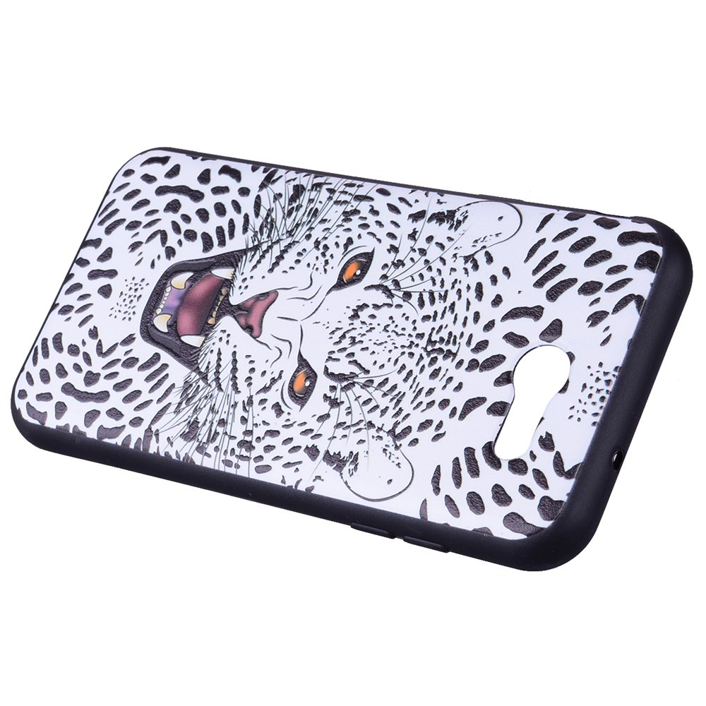 Case For Samsung Galaxy J3 2017 J320 U.S. Edition Snow Leopard TPU Phone Case - WHITE