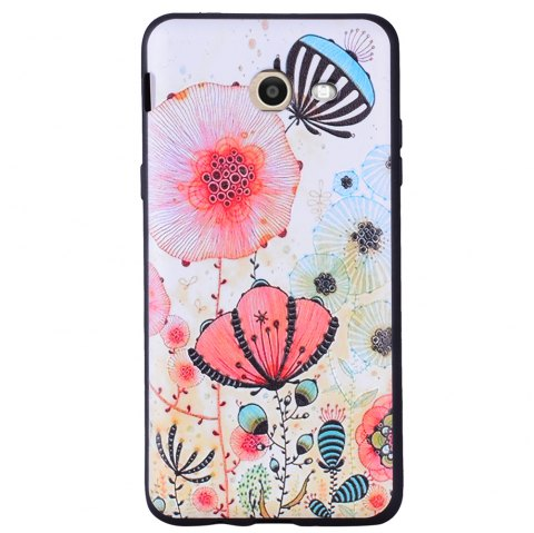 Case For Samsung Galaxy J5 2017 J520 Beauty Powder TPU Phone Case - PINK