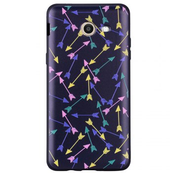 Case For Samsung Galaxy J5 2017 J520 U.S. Painted Cover TPU Phone Case - BLACK BLACK