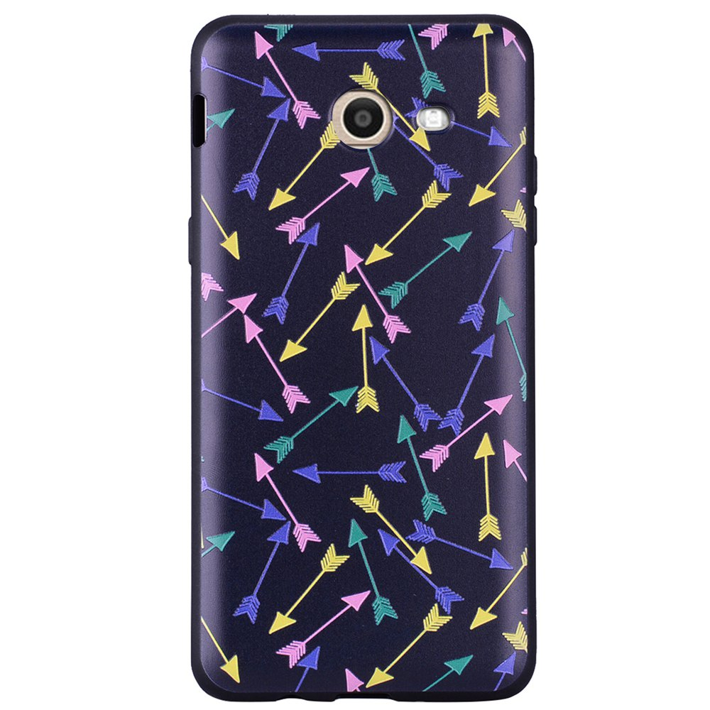 Case For Samsung Galaxy J5 2017 J520 U.S. Painted Cover TPU Phone Case - BLACK