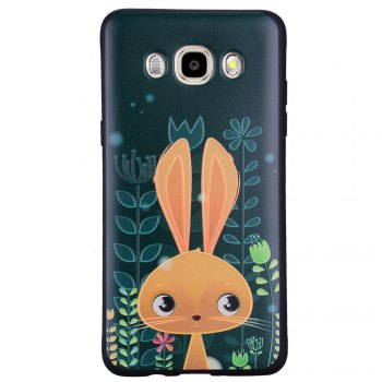 Case For Samsung Galaxy J510 Cute Rabbit TPU Phone Case - GREEN GREEN
