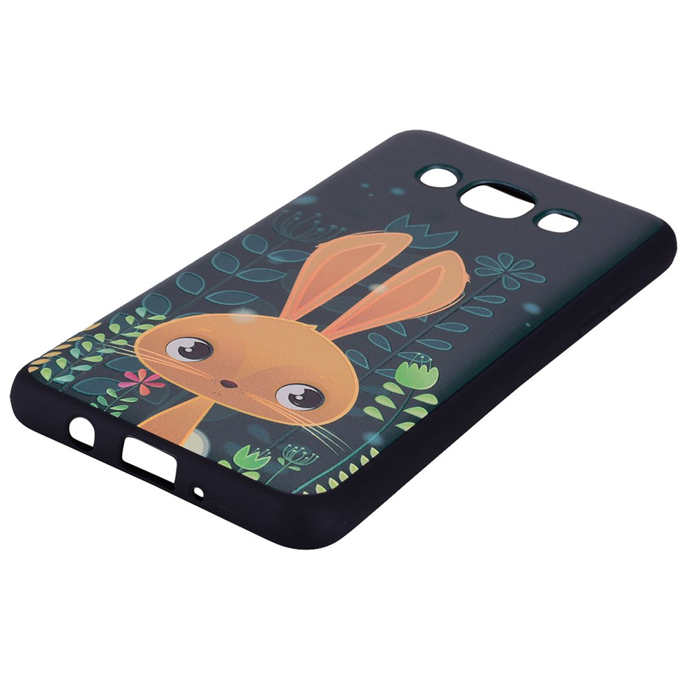 Case For Samsung Galaxy J510 Cute Rabbit TPU Phone Case - GREEN
