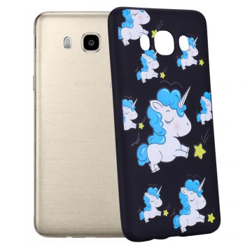 Case For Samsung Galaxy J5 2016 J510 Unicorn TPU Mobile Phone Protection Shell - BLUE