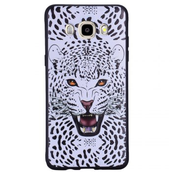 Case For Samsung Galaxy J5 2016 J510 Snow Leopard TPU Mobile Phone Protection Shell - WHITE WHITE