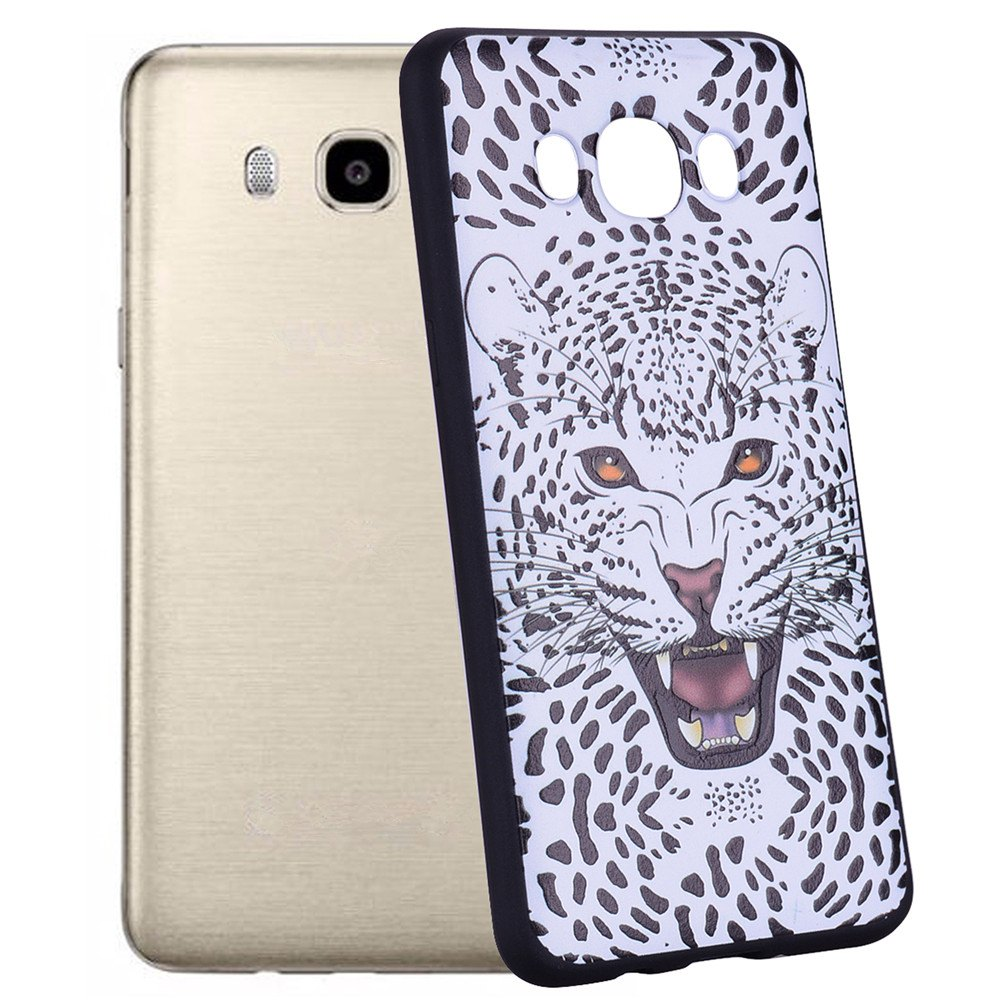 Case For Samsung Galaxy J5 2016 J510 Snow Leopard TPU Mobile Phone Protection Shell - WHITE