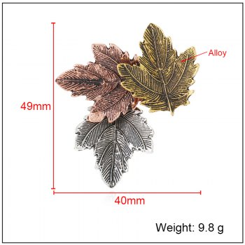 European and American vintage brooch for a quick sale of hot style multicolored leaves and a new leaf pin - COLOUR 1PC