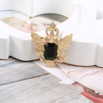 European and American vintage brooch sells hot style crown pin new flamingo fancy brooch - GOLD/BLACK 1PC