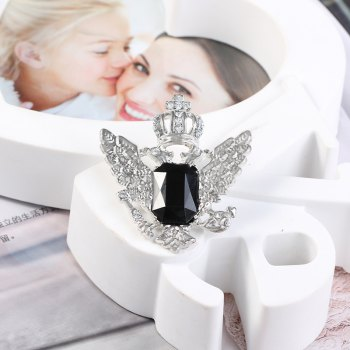European and American vintage brooch sells hot style crown pin new flamingo fancy brooch - WHITE/BLACK 1PC