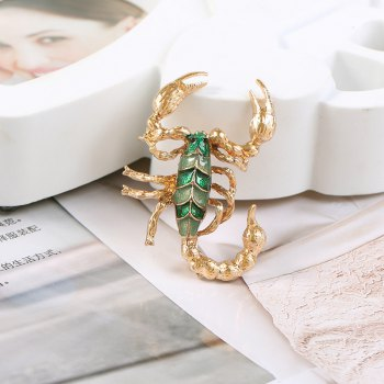 European and American vintage brooches sell hot style personalized brooches - GREEN 1PC