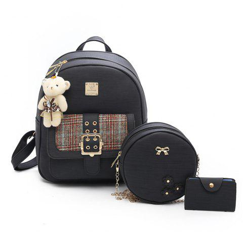 d95edb4684 Backpack Women Fashion Trendy Bag of Fresh College Students Small Fresh  Small Backpack - BLACK