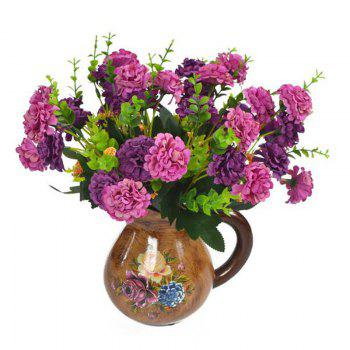 Artificial Flowers Bouquet Multi Purposes Decorative Phoenixian Ball Flower - PURPLE 35CM X 10CM