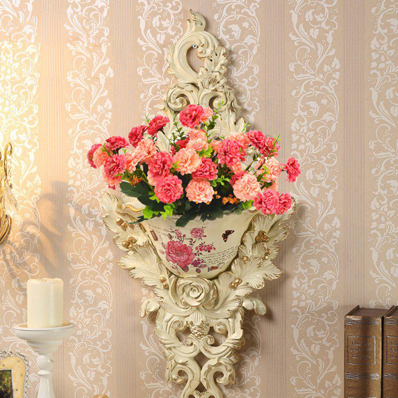 Bouquet de fleurs artificielles Multi Purposes décoratif Phoenixian Ball Flower - ROSE PÂLE 35CM X 10CM