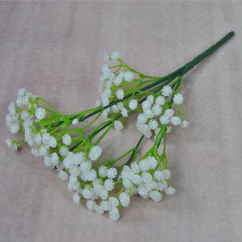 Plastic Flowers Vivid Artificial Babysbreath Bouquet Decorative Display - WHITE 25CM X 10CM