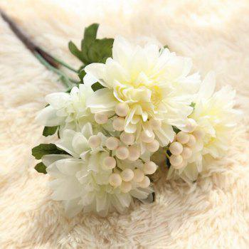 Artificial Flower Bouquet Set Vivid Bright Decorative Simulation Flower Display - WHITE 37CM X 9CM