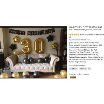 30th BIRTHDAY PARTY DECORATIONS KIT Happy Birthday Banner 30th Gold Number Balloons for Perfect 30 Years Old Party Supplies - GOLD / BLACK 23PCS