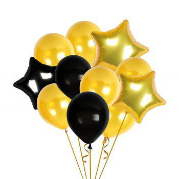 Birthday Party Pack White Happy Birthday Bunting Poms and Swirls Pack Birthday Decorations  21st 30th 40th 50th Birthday Party Supplies - BLACK / GOLD 21ST