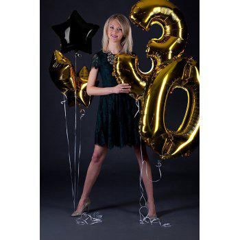 Birthday Party Pack White Happy Birthday Bunting Poms and Swirls Pack Birthday Decorations  21st 30th 40th 50th Birthday Party Supplies - BLACK / GOLD 50TH