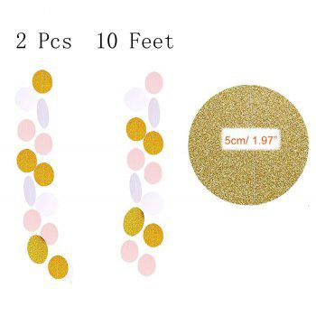 Party Supplies and Party Decorations 60 Pcs Party Balloons Paper Tassel Polka Dot Paper Perfect for Birthdays Weddings - AS THE PICTURE 1 SET