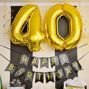 5Pcs Colorful Confetti Balloon Birthday Wedding Party Helium Balloons for Home Decor Birthday Party Accessories - BLACK / GOLD 1 SET