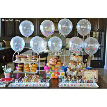 5Pcs Colorful Confetti Balloon Birthday Wedding Party Helium Balloons for Home Decor Birthday Party Accessories - multicolorCOLOR 5PCS(12 INCH)